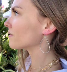 Petite Hammered Hoops in Silver-Earrings-Waffles & Honey Jewelry-Waffles & Honey Jewelry