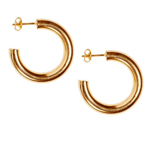 Petite Siren Hoops in Gold