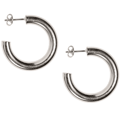 Petite Siren Hoops in Silver-Earrings-Waffles & Honey Jewelry-Waffles & Honey Jewelry