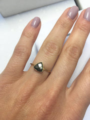 Pyrite Triangle Stacking Ring-Rings-Waffles & Honey Jewelry-Waffles & Honey Jewelry