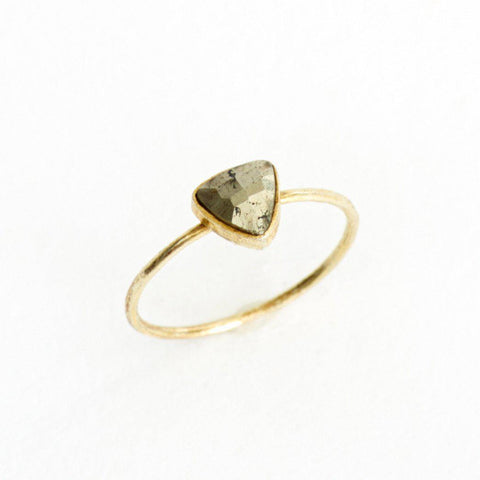 Pyrite Triangle Stacking Ring