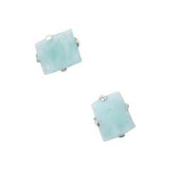 Raw Larimar Studs-Earrings-Waffles & Honey Jewelry-Waffles & Honey Jewelry