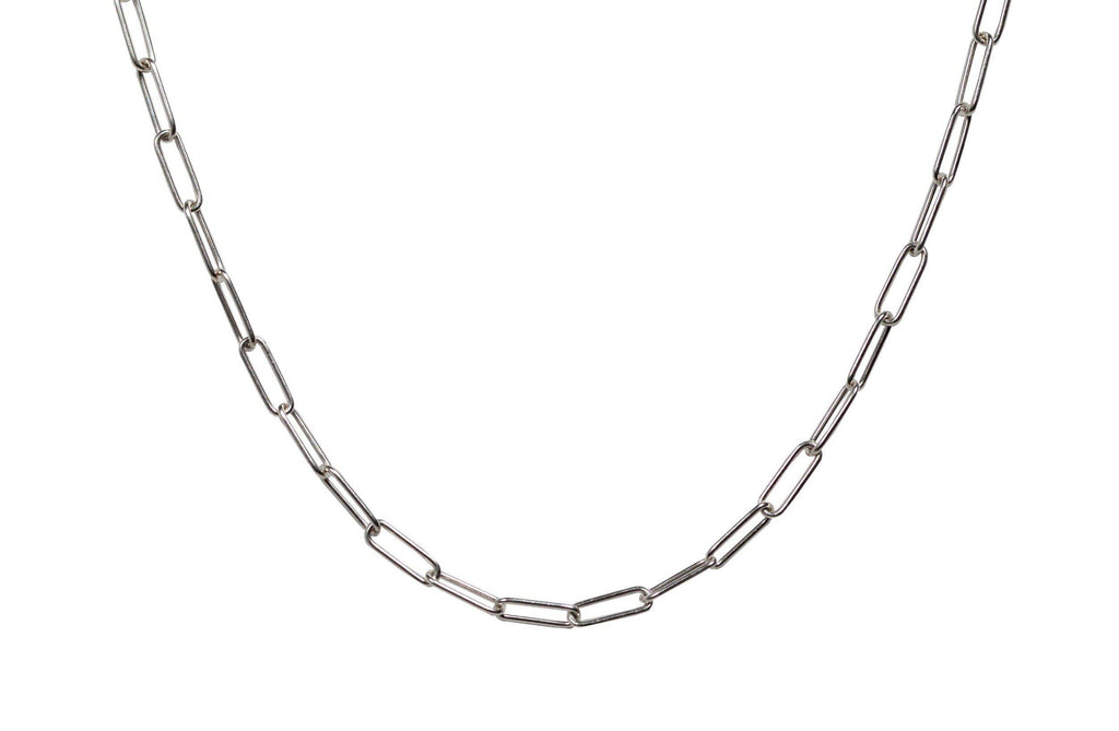 Rectangle Link Layering Chain in Silver-Necklaces-Waffles & Honey Jewelry-Waffles & Honey Jewelry