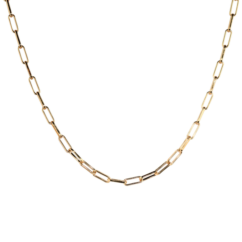 Rectangle Link Layering Chain-Necklaces-Waffles & Honey Jewelry-Waffles & Honey Jewelry