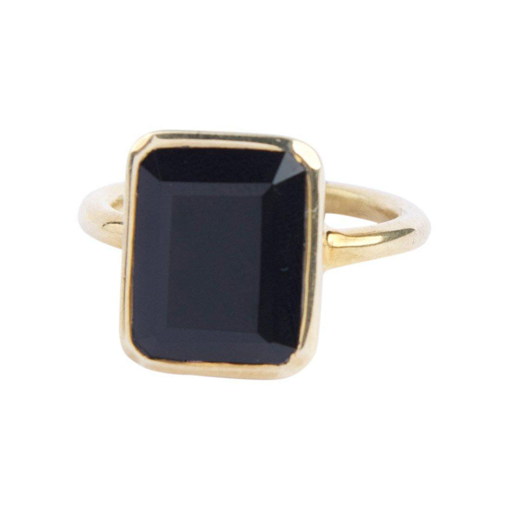 Rectangle Ring in Onyx-Rings-Waffles & Honey Jewelry-Waffles & Honey Jewelry