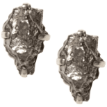 Rough Cut Meteorite Studs-Earrings-Waffles & Honey Jewelry-Waffles & Honey Jewelry