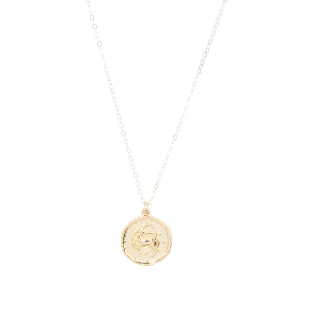 Sagittarius Zodiac Necklace in Gold-Necklaces-Waffles & Honey Jewelry-Waffles & Honey Jewelry