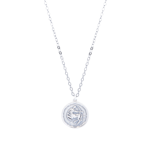 Sagittarius Zodiac Necklace in Silver