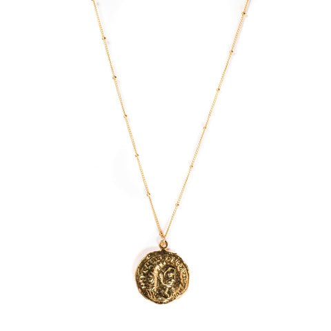 Short Roman Coin Necklace