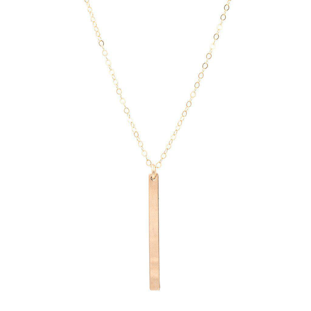 Short Vertical Bar Necklace-Necklaces-Waffles & Honey Jewelry-Waffles & Honey Jewelry