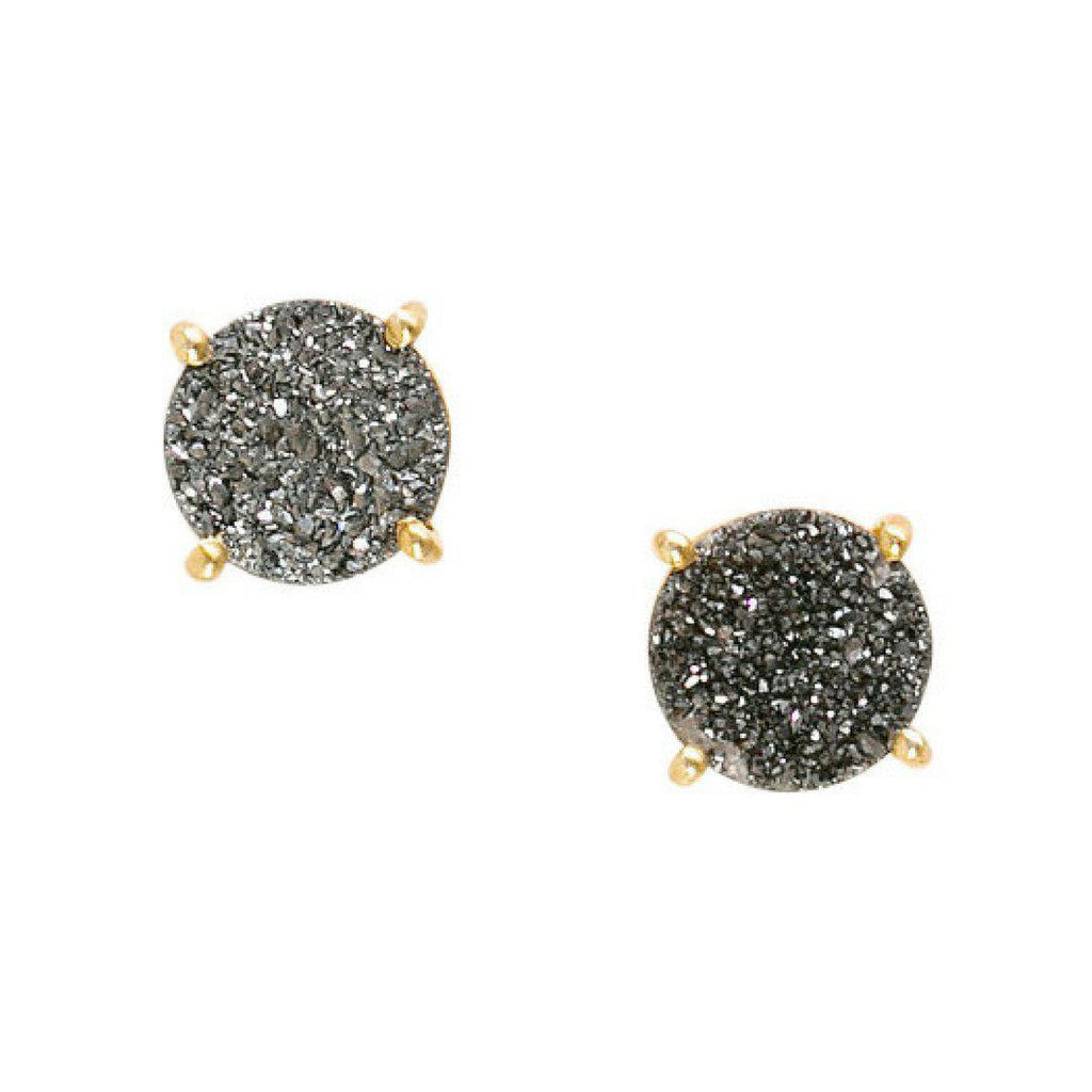 Silver Druzy Studs-Earrings-Waffles & Honey Jewelry-Waffles & Honey Jewelry