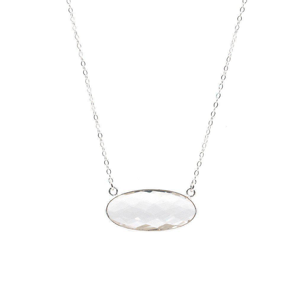 Silver Kacey Necklace in Crystal Quartz-Necklaces-Waffles & Honey Jewelry-Waffles & Honey Jewelry