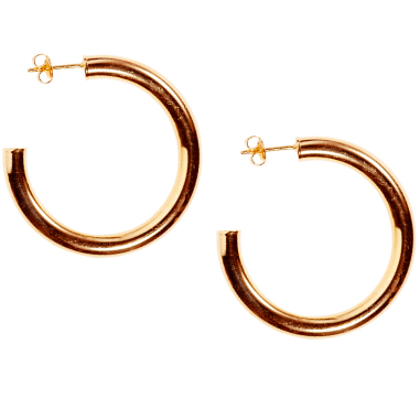 Siren Hoops in Gold