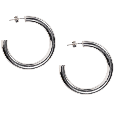 Siren Hoops in Silver