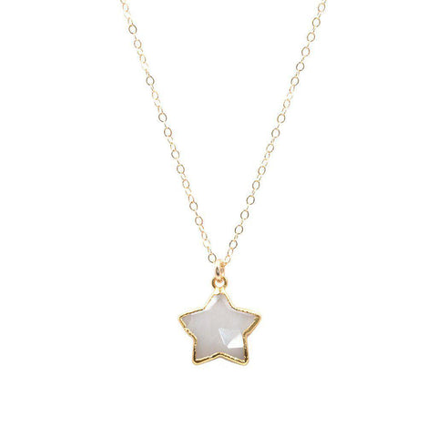 Star Necklace in Moonstone