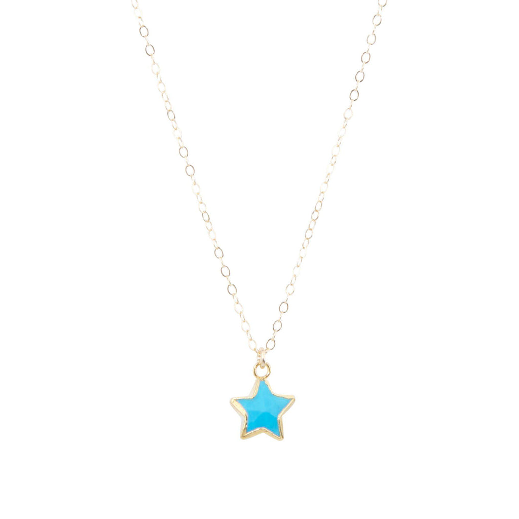 Star Necklace in Turquoise-Necklaces-Waffles & Honey Jewelry-Waffles & Honey Jewelry