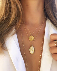 Taurus Zodiac Necklace in Gold-Necklaces-Waffles & Honey Jewelry-Waffles & Honey Jewelry