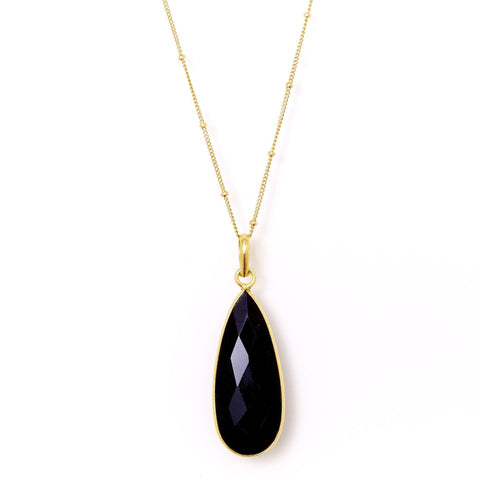 Teardrop Necklace in Onyx