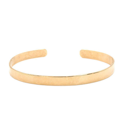 Thin Polished Cuff in Gold