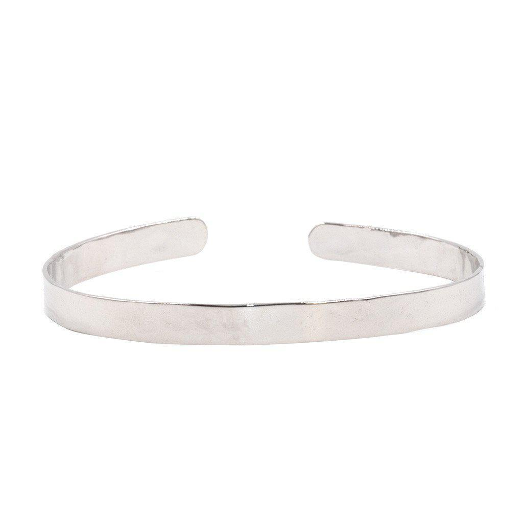 Thin Polished Cuff in Silver-bracelet-Waffles & Honey Jewelry-Waffles & Honey Jewelry