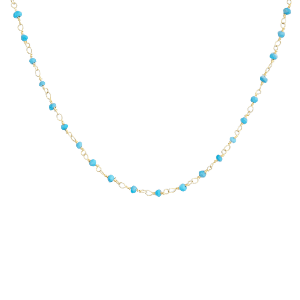 Turquoise Choker-Necklaces-Waffles & Honey Jewelry-Waffles & Honey Jewelry