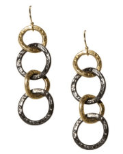 Vanessa Oxidized Link Chain Earrings