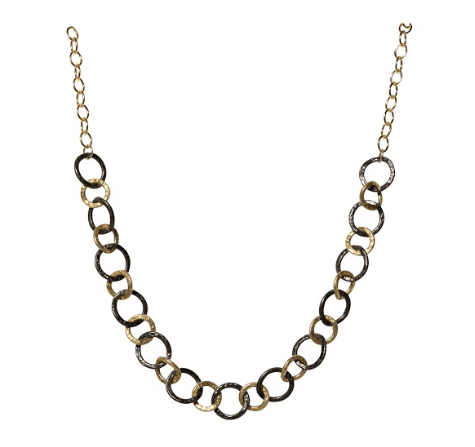 Vanessa Oxidized Link Chain Necklace-Necklaces-Waffles & Honey Jewelry-Waffles & Honey Jewelry