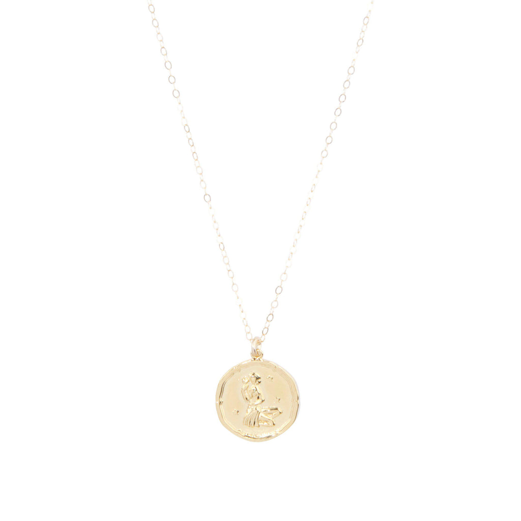 Virgo Zodiac Necklace in Gold-Necklaces-Waffles & Honey Jewelry-Waffles & Honey Jewelry