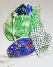 Load image into Gallery viewer, Gingham Drawstring Bag