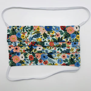 Rifle Paper Co Petit Garden Party Face Mask with Elastic Head Loops