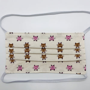 Calico Cats Face Mask with Filter Pocket