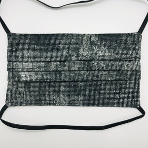 Chalk and Charcoal Face Mask with Elastic Head Loops