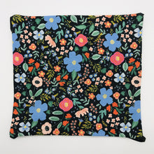 Load image into Gallery viewer, Image of Rifle Paper Co Wild Roses on Black Print print fabric.