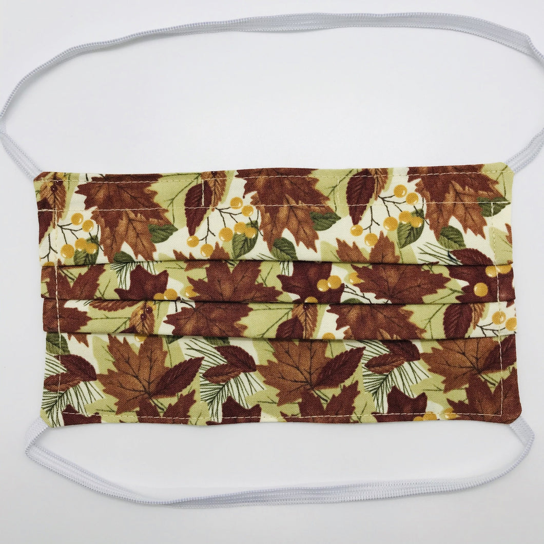 Fall Leaves Face Mask with Elastic Head Loops