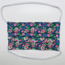 Load image into Gallery viewer, Bright Star Floral Face Mask with Filter Pocket