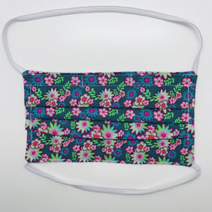 Bright Star Floral Face Mask with Filter Pocket