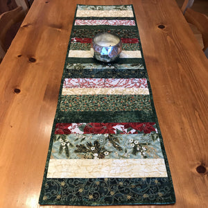 Holiday Metallic Quilted Table Runner