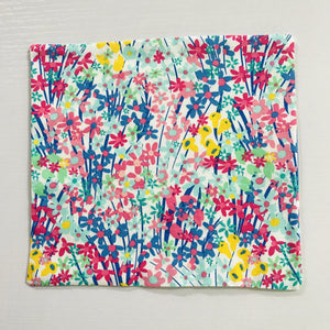 Image of spring flowers print quilting cotton.
