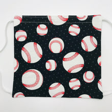 Load image into Gallery viewer, Baseball Fabric Face Mask with Elastic Head Loops