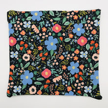 Load image into Gallery viewer, Image of Rifle Paper Co Wild Roses on Black fabric.