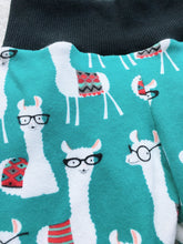 Load image into Gallery viewer, Toddler Pants |Turquoise Llamas