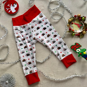 Toddler Pants | Holiday Hedgehog | Gender Neutral