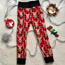 Load image into Gallery viewer, Toddler Pants | Holiday Plaid Reindeers | Gender Neutral