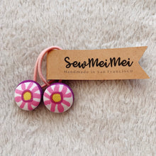 Load image into Gallery viewer, SewMeiMei - Small Hair Ties - Flowers