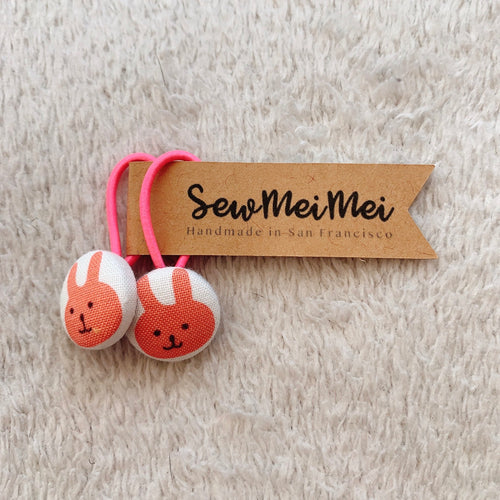 SewMeiMei - Small Hair Ties - Bunny