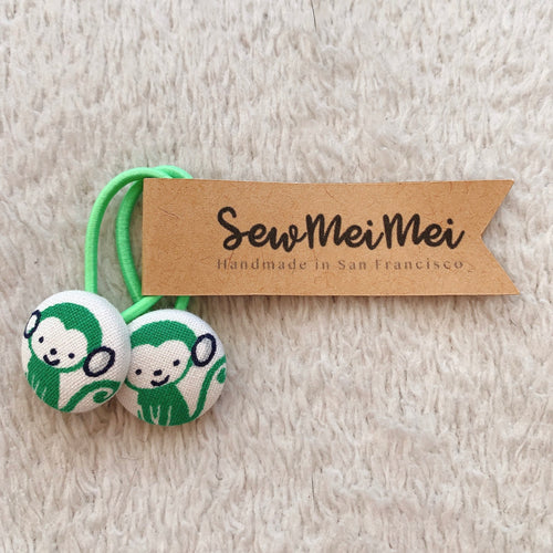 SewMeiMei - Small Hair Ties - Monkeys