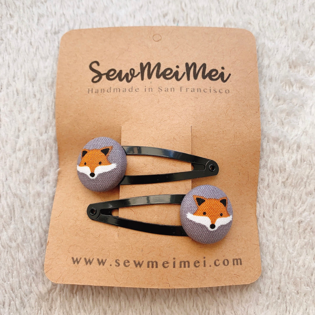 SewMeiMei Hair Clips Barrettes - Fox