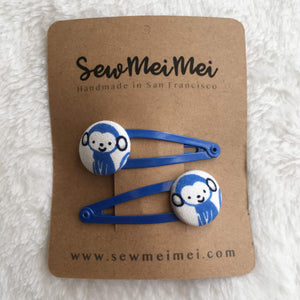 Hair Clips | Barrettes | Monkeys