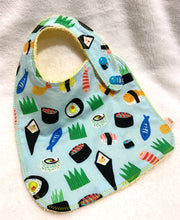 Load image into Gallery viewer, Sushi Bib + Burp Cloth | Gift Set