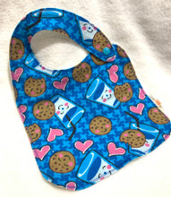 Load image into Gallery viewer, Baby Bibs | Cookies & Milk Flannel